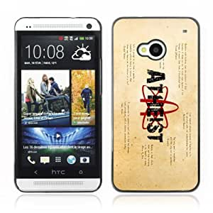 Designer Depo Hard Protection Case for HTC One M7 / Atheist