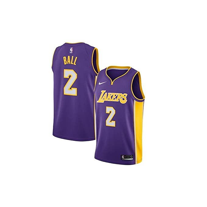 Nike NBA Los Angeles Lakers Lonzo Ball 2 2017 2018 Statement Edition Jersey Oficial Away BBB Big Baller Brand, Camiseta de Hombre: Amazon.es: Ropa y ...