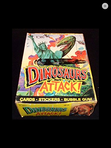 (1) Box of Dinosaurs Attack 1988 Vintage Trading Cards (48) Unopened Packs Topps (1988 Unopened Trading Card Box)
