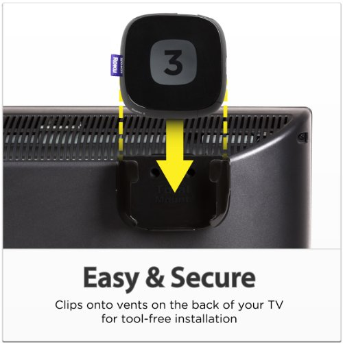 TotalMount Roku Mounting System (Compatible with Roku 3, Roku 2, Roku 1, and Roku LT) by TotalMount (Image #1)