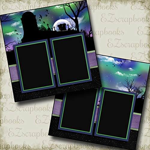 Spooky Skies - Halloween - Premade Scrapbook Pages - EZ Layout 3344 for $<!--$4.99-->
