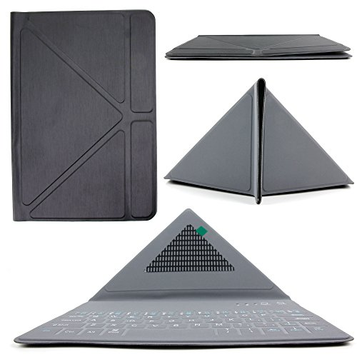 Cheap Cases Ultra-Slim Rechargable QWERTY Keyboard Case with Origami Folding Stand in Classic Black..