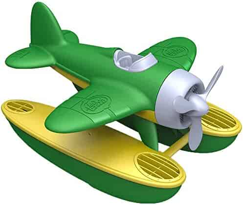 Green Toys Seaplane in Green Color - BPA Free, Phthalate Free Floatplane for Improving Pincers Grip. Toys and Games