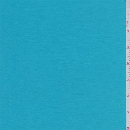 Aqua Blue Stretch Satin, Fabric By the Yard Blue Stretch Satin