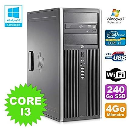 HP Torre PC Elite 8200 Core i3 – 2120 4 GB disco 240 GB SSD ...
