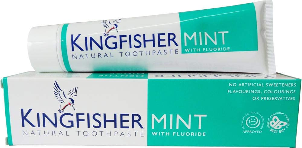 Kingfisher Mint Natural Toothpaste with Fluoride (100ml) - by Kingfisher