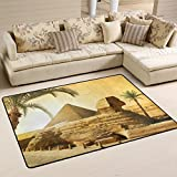 ALAZA Pyramid Egyptian Palm Tree Area Rug Rugs for Living Room Bedroom 3'x2′ For Sale