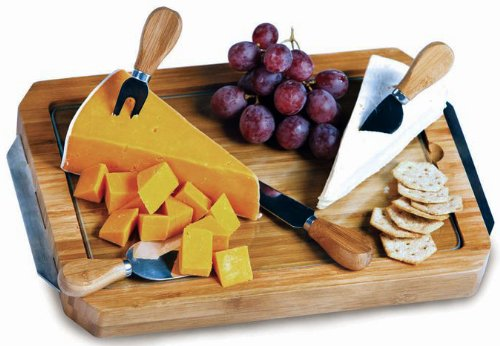 Picnic Plus Harmonia Bamboo Cheese Board with Tempered