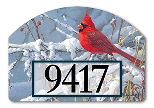 YardDeSign Cardinal in Snow Yard DeSign Yard Sign 71385