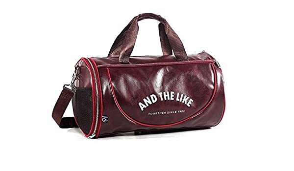 3a28887c1076 Yunqir Multi-Function Large Capacity Gym Bag Sports Holdall Travel  Weekender Duffel Bag for Men and Women(Wine Red)  Amazon.ca  Sports    Outdoors