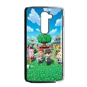 LG G2 Cell Phone Case Black Animal Crossing New Leaf OJ419952