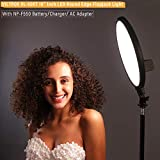 VILTROX 2000LM LED Bi-Color Studio Round Lighting,Ultra Thin Studio Edge Flapjack Light, 10-Inch Portrait Light with Battery/Charger/AC Adapter