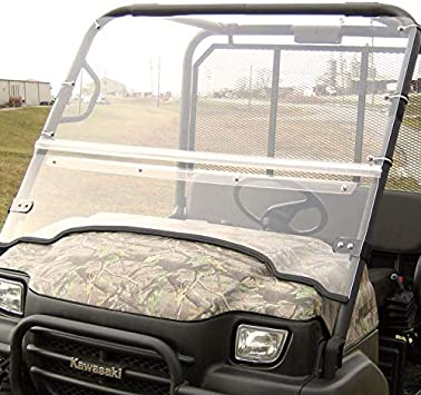 Over Armour Kawasaki Teryx Mule 3000//3010 Folding Front Windshield with Hardcoat