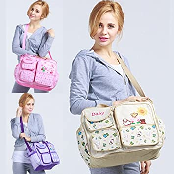 Amazon.com : Fasion printing baby diaper bolsas bag nappy ...