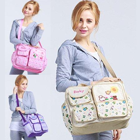 Amazon.com: Fasion impresión bolsas de pañales de bebé bolso ...