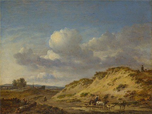 Killer Sheep Costume (high quality polyster Canvas ,the Cheap but High quality Art Decorative Art Decorative Canvas Prints of oil painting 'Jan Wijnants Peasants driving Cattle and Sheep ', 12 x 16 inch / 30 x 41 cm is best for Garage gallery art and Home decoration and Gifts)