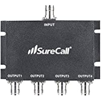 SureCall 4-Way Splitter (TNC-Female Connectors) for All Cellular devices - Black