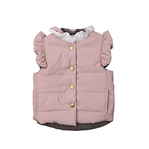 cad833d20 Amazon.com  Infant Toddler Baby Girls Cotton Vests Silk Like Padded ...