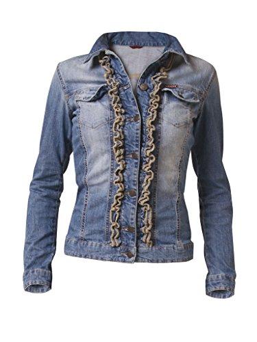 Elasticizzato Carrera Jeans super Chiaro Per Donna 501 Tessuto Wash Blu Giubbino Lavaggio Stone rXFqnr