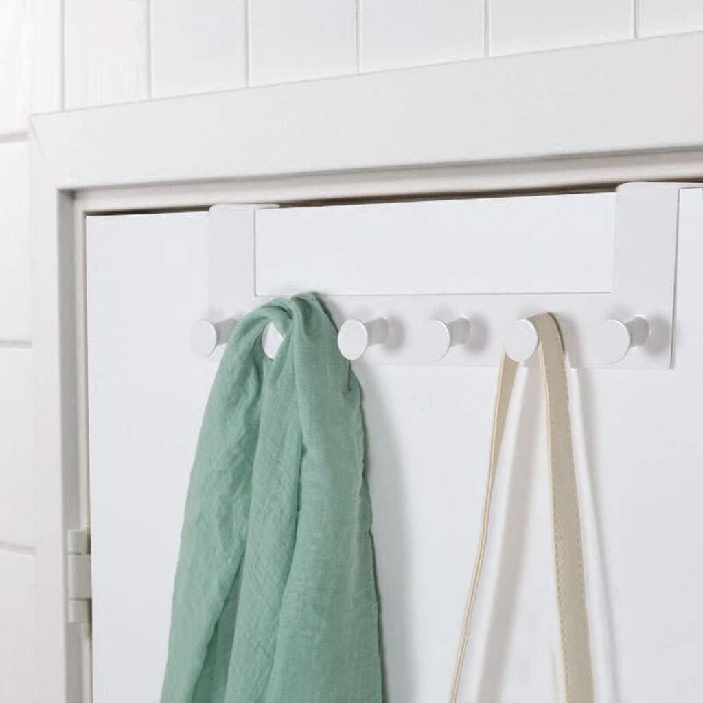 ViShow Iron Art Back Door Hanger Hook for Bathroom Kitchen Hanger Towel Clothes Door Rack,Easy Install Space Saving Bathroom Hooks by ViShow (Image #3)