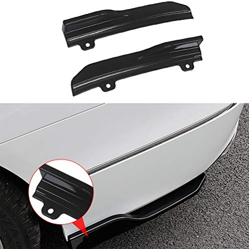 NINTE for 2018-2019 10th Honda Accord Rear Side Skirt Winglets - Painted Gloss Black PP Diffusers (Left + Right)