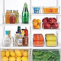 mDesign Caja para nevera con asas - Organizador de frigorífico ...