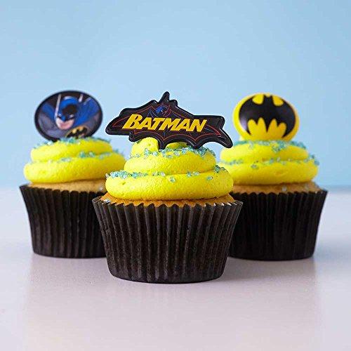 6 Batman Bat Signal Plaque Cake Topper Cupcake