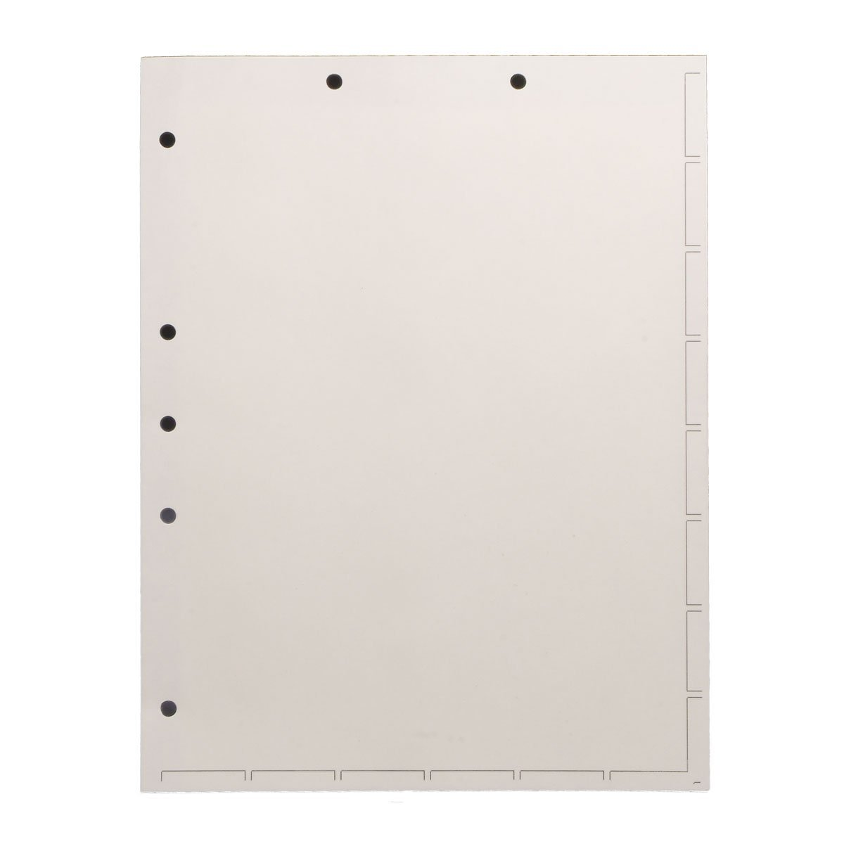 Chart Divider Sheets for Stick-On Tabs, Letter Size, White (Box of 250)