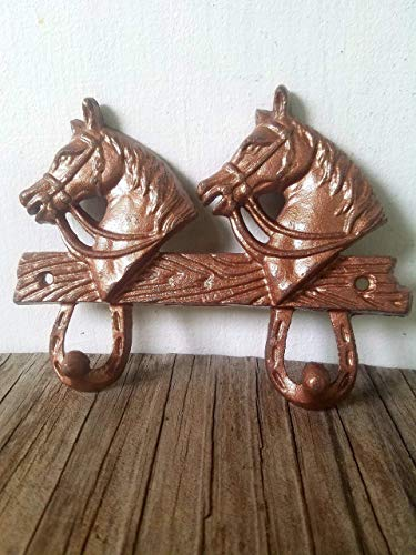 Copper Horsehead Double hook - Men's Western Home Décor - Rustic cowboy cowgirl - kids room