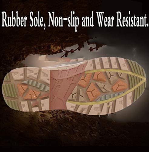 Desierto Zapatos Rsheng Alta Entrenamiento Beige Militares Para Táctico Absorción Combate botas Del Zapatos De Hombres Botas Ayuda UAxqdvAS