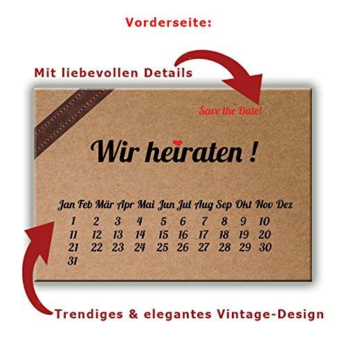 Save The Date Karten Postkarten Vintage Mit Text Hochzeit Liebe