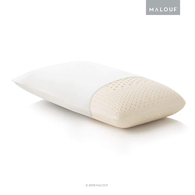 MALOUF Z 100% Natural Talalay Latex Zoned Pillow - Conforming and Supportive