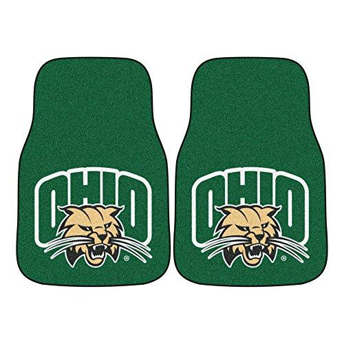 FANMATS NCAA Ohio University Bobcats Nylon Face Carpet Car Mat