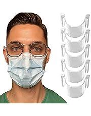5 transparante anticondens neusklem voor masker - Voorkomt beslaan en damp - Bestendig, geurloos, niet giftig en 100% recyclebaar - Neusbrugband