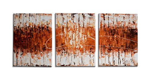 Abstract Handmade Oil Painting on Canvas - Burnt orange wall art