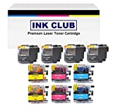 InkClub LC20EBK LC20EC LC20EM LC20EY (XXL) Super High Yield Ink Cartridge Set, Replacement Use for Brother MFC-J5920DW, MFC-J775DW, MFC-J985DW Printers (B/C/M/Y, 4B,2C,2M,2Y)