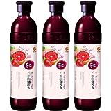 紅酢(ホンチョ)イチゴグレープフルーツ 飲むお酢 900ml x 3本