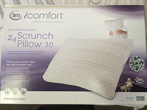 - Serta TempActiv King iComfort Scrunch Pillow, White