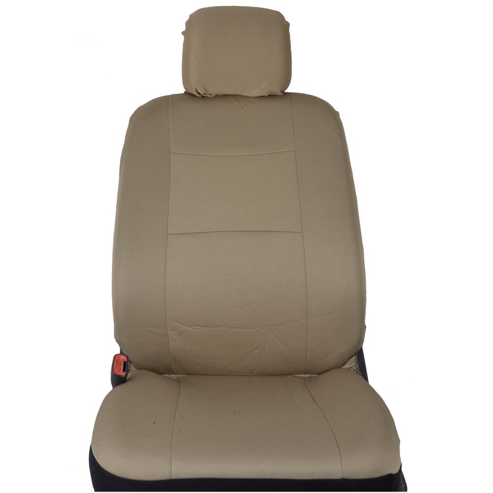 11 Piece Car Truck Seat Cover: BDK PolyCloth Car Seat Covers (Solid Beige)