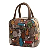 Lunch Handbag Among Thermal Insulated Tote Picnic Cool Canvas Bag Cooler Pouch Waterproof Zipper Boxes (Coffee)