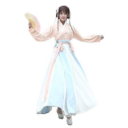 YCWY Traje Chino Vintage para Mujer Hanfu Antiguo Vestido ...