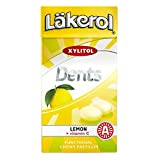 4 Boxes X 36g of Läkerol Dents Lemon + Vitamin C - Sugar Free - Xylitol - Pastilles Lozenges Dragees Drops Candy Sweets (Sweden)