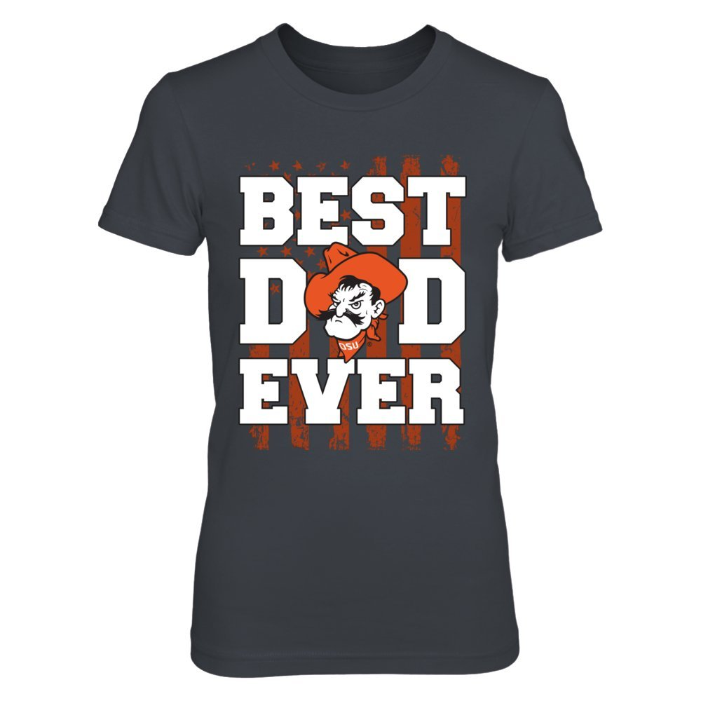 Oklahoma State Cow T Shirt Best Dad Ever Nation Flag