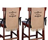 burlap chair covers Lillian Rose Mr. and Mrs. Rustic Burlap Chair Covers Decor