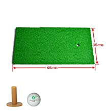 PLAYEAGLE 12''x24'' Mini Golf Practice Mat Protable Hitting Mat Golf Driving Mat with Rubber Golf Tee and Golf Ball