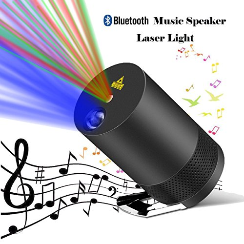 Dj Disco Light (Projector Laser Lights,Party Laser Lights Projector For House with Bluetooth Speaker,Voice-Activated Rhythm Light Perfect for DJ Disco Party Home Show Birthday Party Stage and Camping)