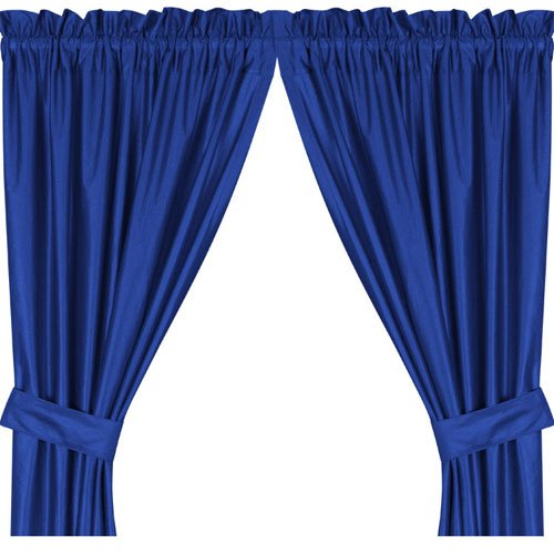 Sports Coverage Bright Blue Curtains Locker Room Drapes