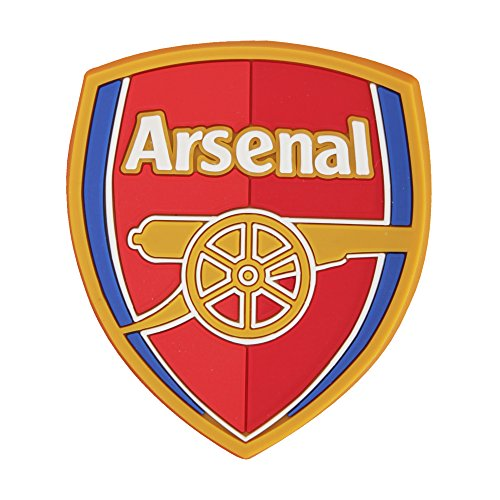 Arsenal FC Official Football Crest Rubber Fridge Magnet (One Size) (Red/Gold/Navy) (Football Refrigerator)