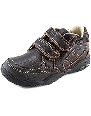 Boys Toddler Gerard Dark Brown Leather Shoes Boots Velcro