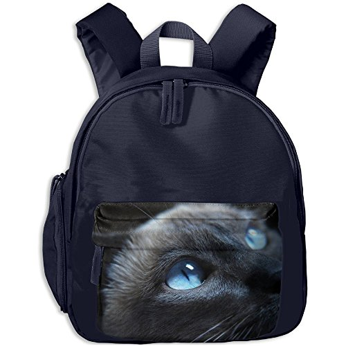 Cat With Big Eyes Lightweight Backpack School Bag Travel Lunch Bags For School Opening With Side Pockets